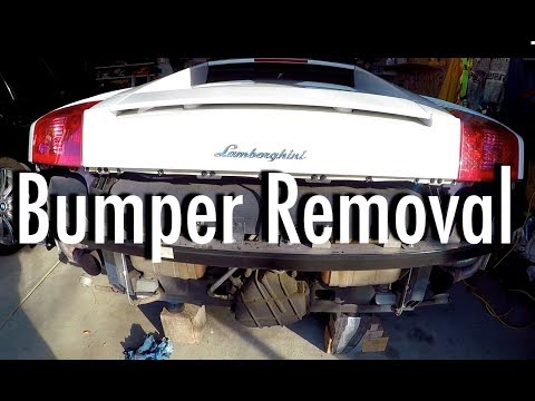 Lamborghini Gallardo Rear Bumper Removal HD