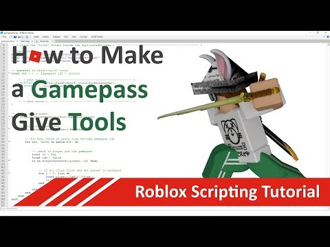 Download How To Make Gamepasses Give Tools Roblox Scripting -
