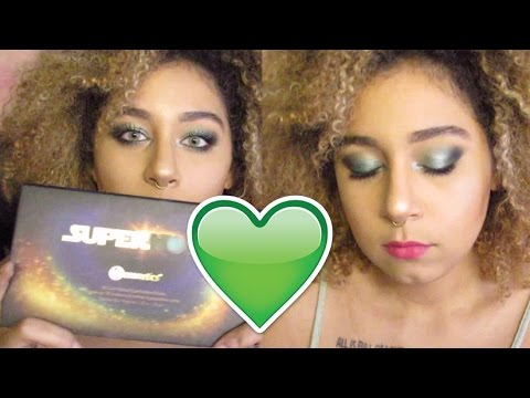 Face Chart Inspired Bright Green Eyes Bh Cosmetics Supernova