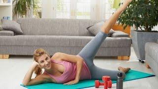 Фитнес упражнения для домашней тренировки! Круговая тренировка...