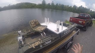 Pelican Bass Raider - How to Load and Unload Boat on Utility Trailer