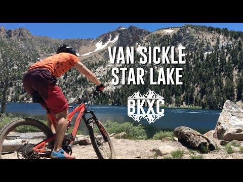 Mountain biking the Tahoe Rim Trail from Van Sickle to Star Lake