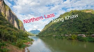 Travelling northern Laos. Attraction of Nong Khiaw village