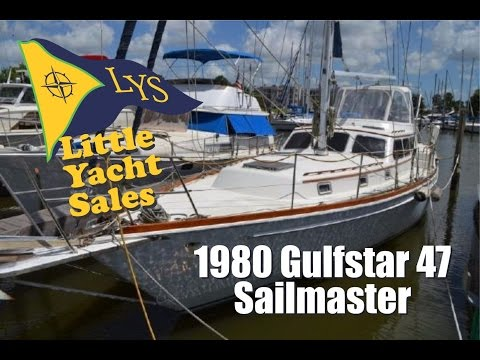 SOLD!!! 1980 Gulfstar 47 Sailmaster sailboat for sale at Little Yacht Sales, Kemah Texas