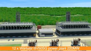 220MW power plant featuring 12 Wärtsilä 18V50SG engines | Wärtsilä