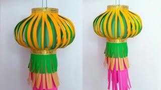 Diwali / Christmas decoration idea | paper lantern | lantern for diwali | paper craft | HMA##214
