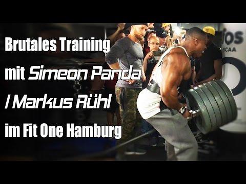 Brutales Training mit Simeon Panda / Markus Rühl im Fit One Hamburg