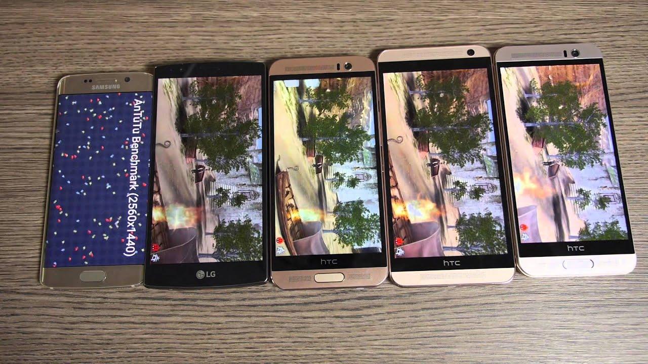Samsung galaxy note 5 vs htc one m9 plus a comparison - Epic Benchmark Htc One M9 Vs Galaxy S6 Edge Vs Htc One E9 Vs Htc One Me Vs Lg G4 Bonus Youtube