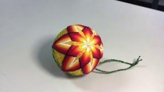 МК Темари. Вышивка на шарах. Часть 1 -разметка шара.