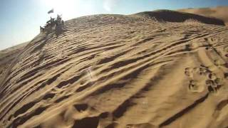 Dirt Bike Jumping Up and Down Test Hill
