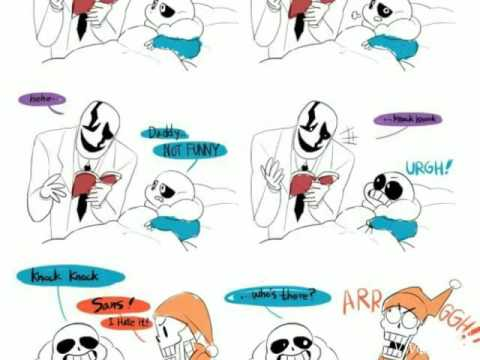 Sans Papyrus And Gaster Youtube