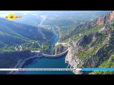 With Aerial Shot, Oymapınar Dam Natural Systems Forest Water and Sun Kingdom 4K UHD