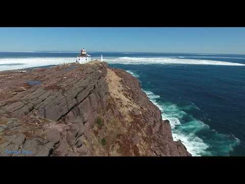 Newfoundland's Iceberg Alley : Cape Spear Ice pack 2017 : Aerial DRONE footage