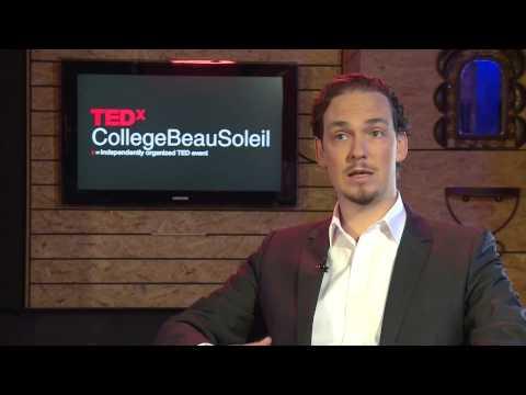TEDx College Beau Soleil 2012 interview - Nicholas McRoberts