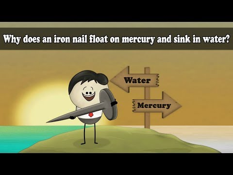 Density - Why Does An Iron Nail Float On Mercury And Sink In Water? | #aumsum