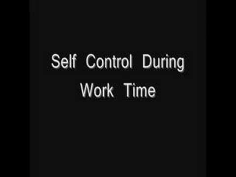 Self Control Educational Video
