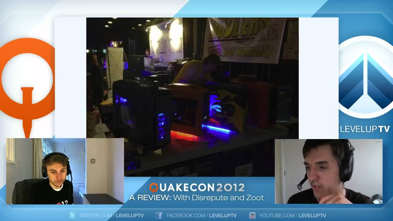 Level Up TV - QuakeCon 2012 Review with Disrepute and zoot