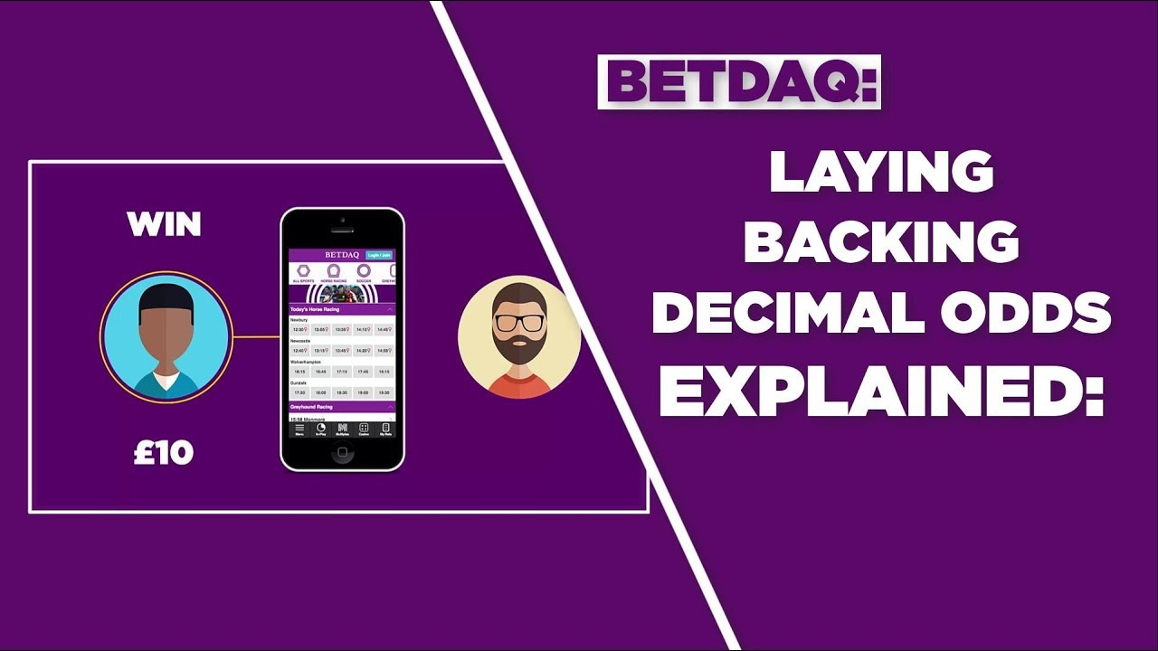 Laying Betting Backing And Decimal Odds Explained 2018