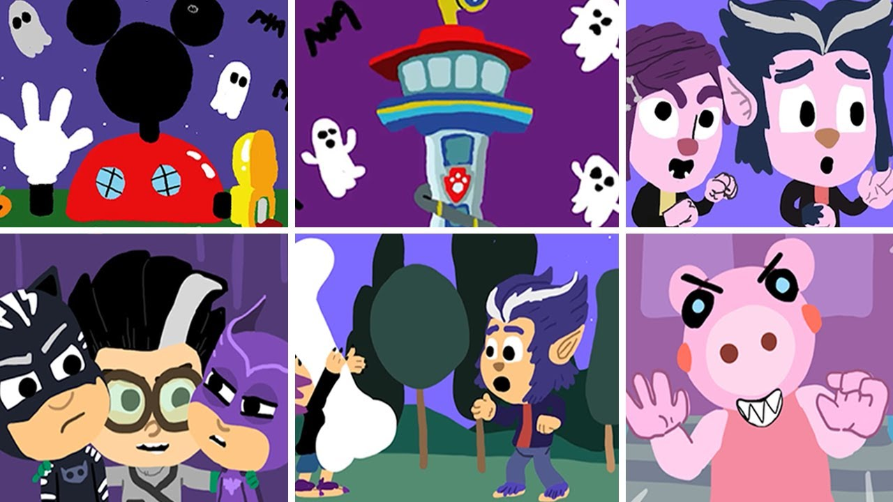 9 Spooky Halloween Drawings - Mickey Mouse Clubhouse, PJ Masks, Piggy