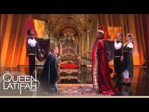 Queen Latifah Show Set Cary Elwes Gets...