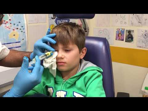 Lewis's trip to Moorfields Eye Hospital in London