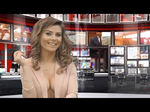 Albanian Tv Newsreaders Strip Down To Boost Audience Zjarr Tv