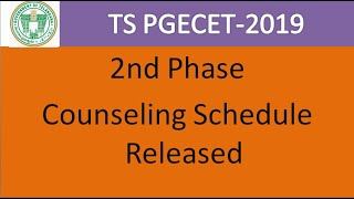 TS PGECET 2nd Counselling schedule Released