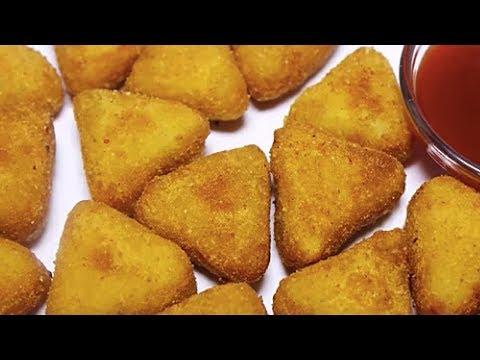 Crispy Potato Nuggets In Hindi   Potato Fritters   Easy Party Starter Recipes   Kanak's Kitchen