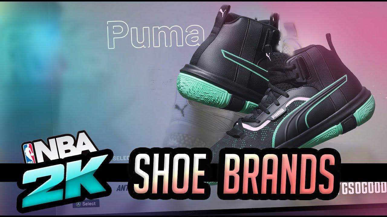 NBA 2K20 New Shoe Creator Brands - Puma