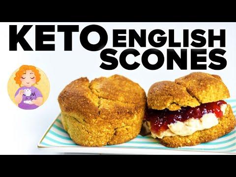 Keto Scones Recipe UK - Gluten Free Scones For Low Carb Cream Tea + Jam