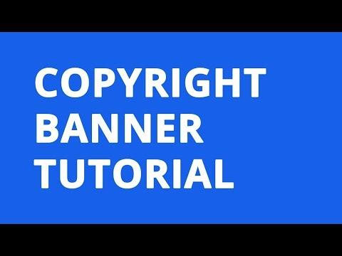 Copyright Bar Tutorial