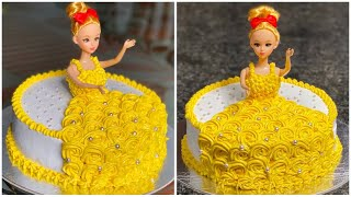How to make Doll Cake at Home  Doll Cake Tutorial  Doll Cake Recipe Without Oven  Chocolate Cake