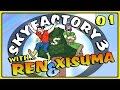 Sky Factory 3 | Ep 01 | THE SILKWORM MURDERER! || Minecraft 1.11 Modded