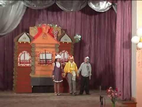 Младшая группа театральной студии Маска.Отрыовк из спектакля по сказке Теремок