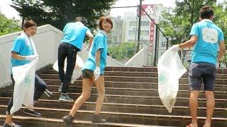 Япония. Бомжи, Няшки-волонтеры, качалка и зеленый человек