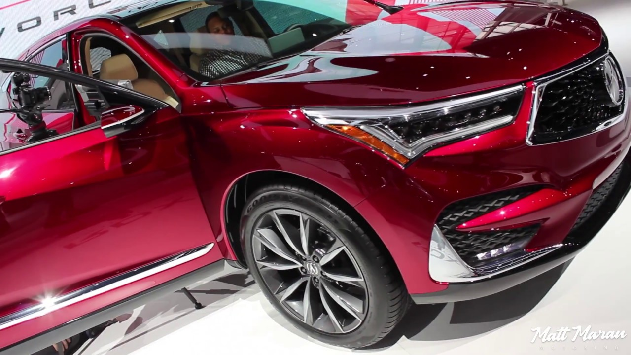 2019 Acura Rdx Prototype Close Up Look 2018 Naias Youtube