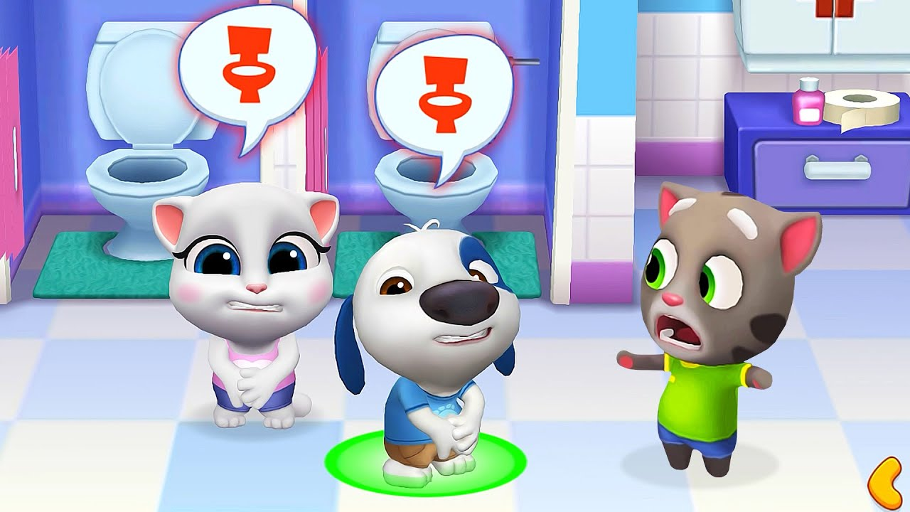 My Talking Tom Friends Funny Gameplay! Virtual Pets Simulator - Little Movies #1