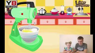 Играем в игру выпекаем вкуснейшие кексы Play the game bake delicious cupcakes