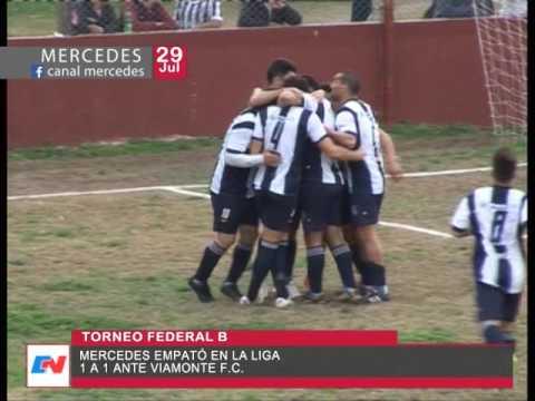 Torneo Federal B  Mercedes empato en la Liga  1 a 1 frente a Viamonte FC  Goles