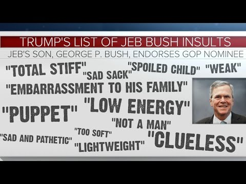 A list of insults Donald Trump has hurled at Jeb Bush