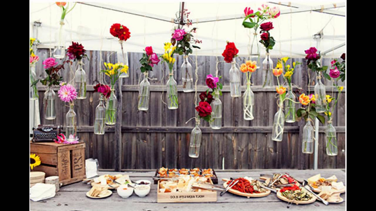 Awesome outdoor party decoration ideas youtube for Backyard engagement party decoration ideas