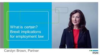 What is certain? Brexit implications for employment law