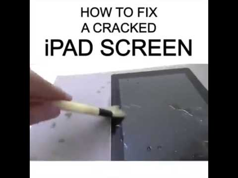how to fix a cracked ipad screen howtobasic