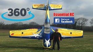 360 PANORAMIC ONBOARD 4K video: HUGE 55% SCALE YAK 54 (Steve Carr)