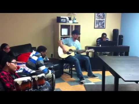 Michael Tolcher freestyles with Children's Cancer Center