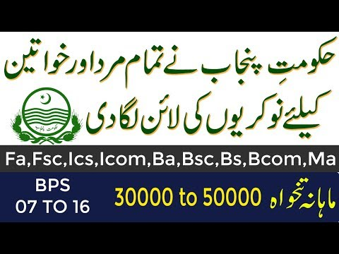Jobs in Government Of Punjab 2019,Finance department , Online Jobs By Student Tips