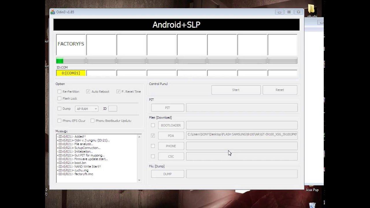 Firmware Samsung Galaxy S2 I9100 with Odin