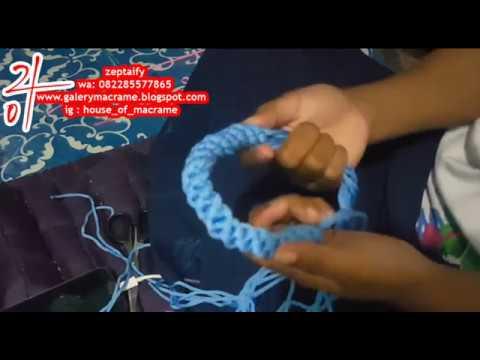 membuat handle atau pegangan tali kur