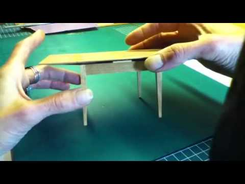 6550a509d41f3 Draw leaf or Dutch pull out table in 1 inch scale - YouTube