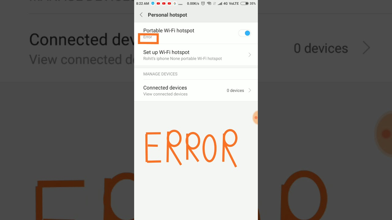How to fix Wi-Fi hotspot problem in REDMI note 4 and other devices